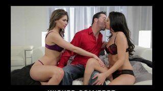 Comendo duas mulheres nuas lindas em porno caseiro